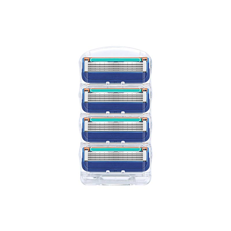 4Pcs/lot Men Razor Blades High Quality Shaving Cassettes Facial Care Men Shaving Blades Compatible Gillettee Fusione