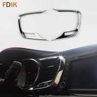 2pcs ABS Chrome Interior Accessories Console Center Air Vent Cover Trim for Kia K5 Optima 2011 2012 2013 2014 2015