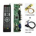 V56 Universal TV LCD Placa de Driver de Controlador de PC/VGA/HDMI/Interface USB 4 lâmpada inversor + 30pin 2ch-8bit lvds cable