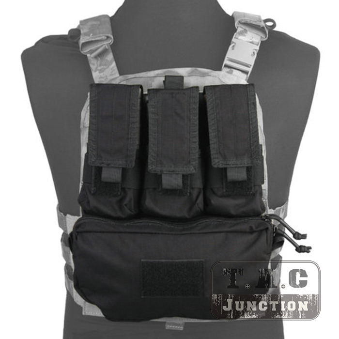 Emerson Tactical MOLLE Assault Pack Panel EmersonGear Plate Carrier Back Bag w/ M4 M16 Magazine Pouch for CPC NCPC AVS Vest convex pouch string design voile panel t back
