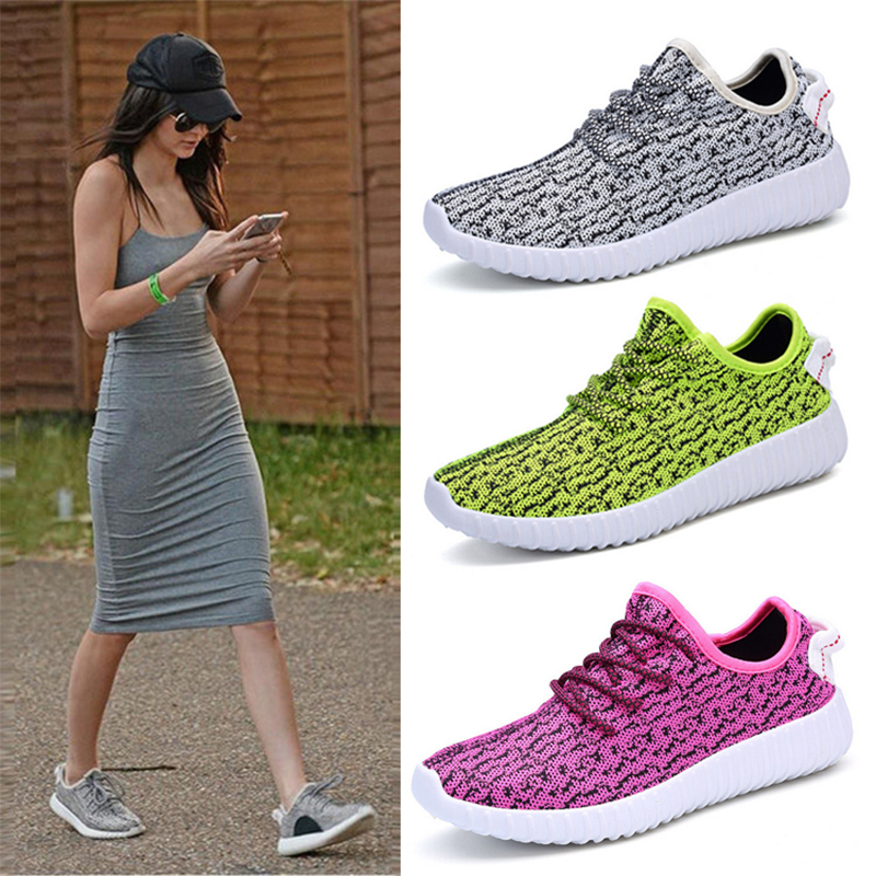 15e27410 2016 spring coconut shoes yeezy female flat sports casual all match  breathable running shoes female single shoes-in Women's Flats from Shoes on  ...