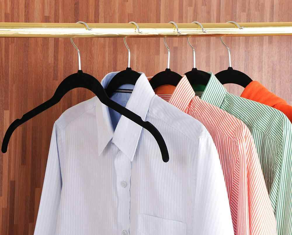 女性ベルベットハンガーとアクセサリーのためのシャツ、ドレスと繊細な服-非スリップビロードのような滑らかテクスチャスリムスペース