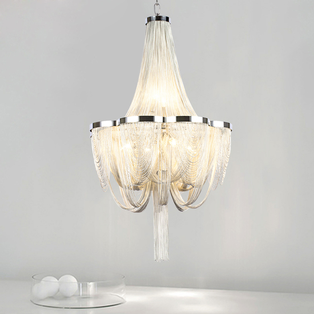 Free shipping modern chandelier light led aluminium stream atlantis chandeliers lamp for living room design dinning