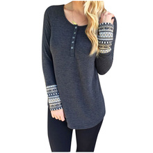 Womens Fashion O-Neck Long Sleeve Knitwear Sweater Tunic (Gray,M)