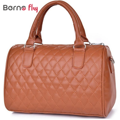 2017 hot sale woman fashion PU leather handbags Vintage solid Zipper messenger bags Top handlebags