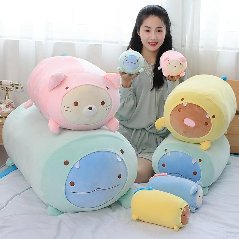 20cm 60cm 90cm Sumikko Gurashi Plush Pillow Stuffed Soft Japanese Anime Toy Corner Creature Toy Big Kids Toy Pillow Gift For H
