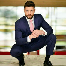 Summer Beach Navy Blue Men Suits for Wedding Men Suits with Pants 2Piece Groom Tuxedo Formal Man Blazer Jacket Costume Homme