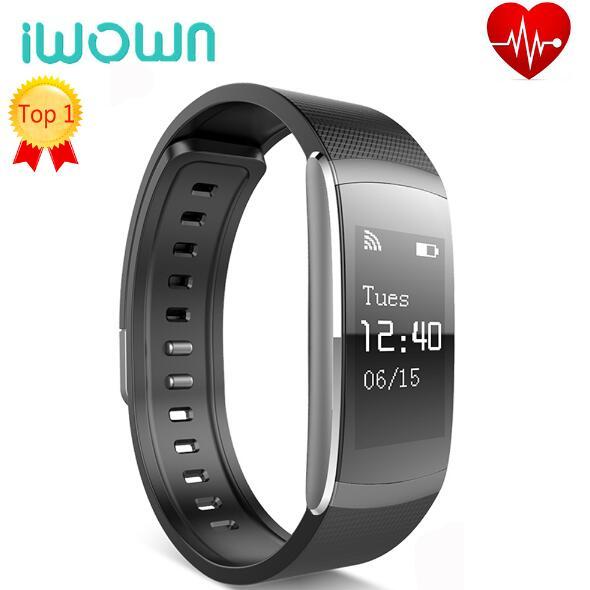 imágenes para Original iwown i6 pro inteligente muñequera heart rate monitor ip67 inteligente pulsera rastreador de ejercicios para andriod 4.4 iwownfit i6 pro