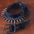 Capa superior de Lujo Diseñadores Remache Punky de Cuero Genuino Para Hombre de Rock Cinturón de aleación de Bala Estilo Hip Hop Metal Correa Ceinture cintura