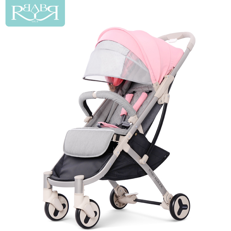 Lightweight Portable umbrella baby stroller 3 in 1 mini size Pram Pushchairs can sit or lie children Kinderwagen on the airplane light foldable baby stroller 3 in 1 cozy can sit and lie lathe umbrella car stroller carry bag 4 colour three wheels single seat