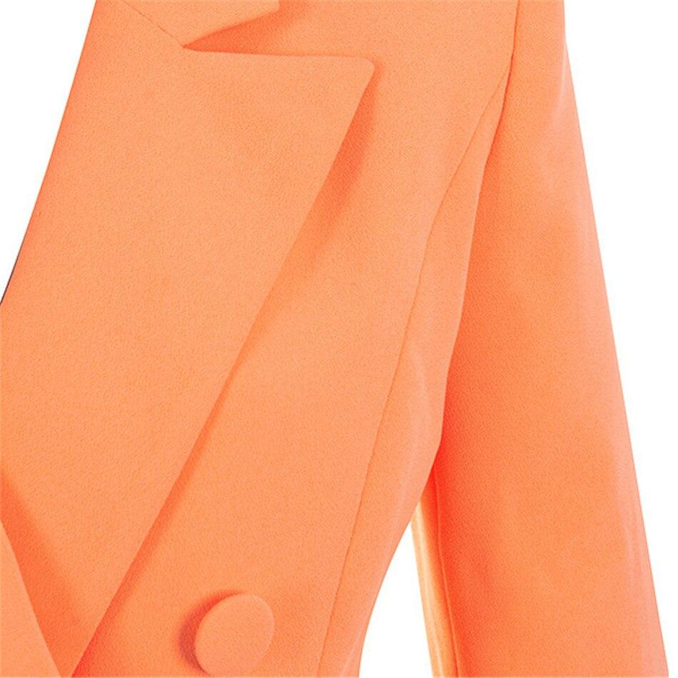 Manches longues femmes robe élégante célébrité élégant Sexy printemps Blazer robe pour femme droite décontracté bouton Slim costume Blazer - 5