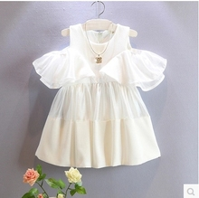 So Fairy Baby Girl Sweet Princess Dress White Flounce Strapless Summer Dress Children Girls Summer Clothing  Kids Clothes