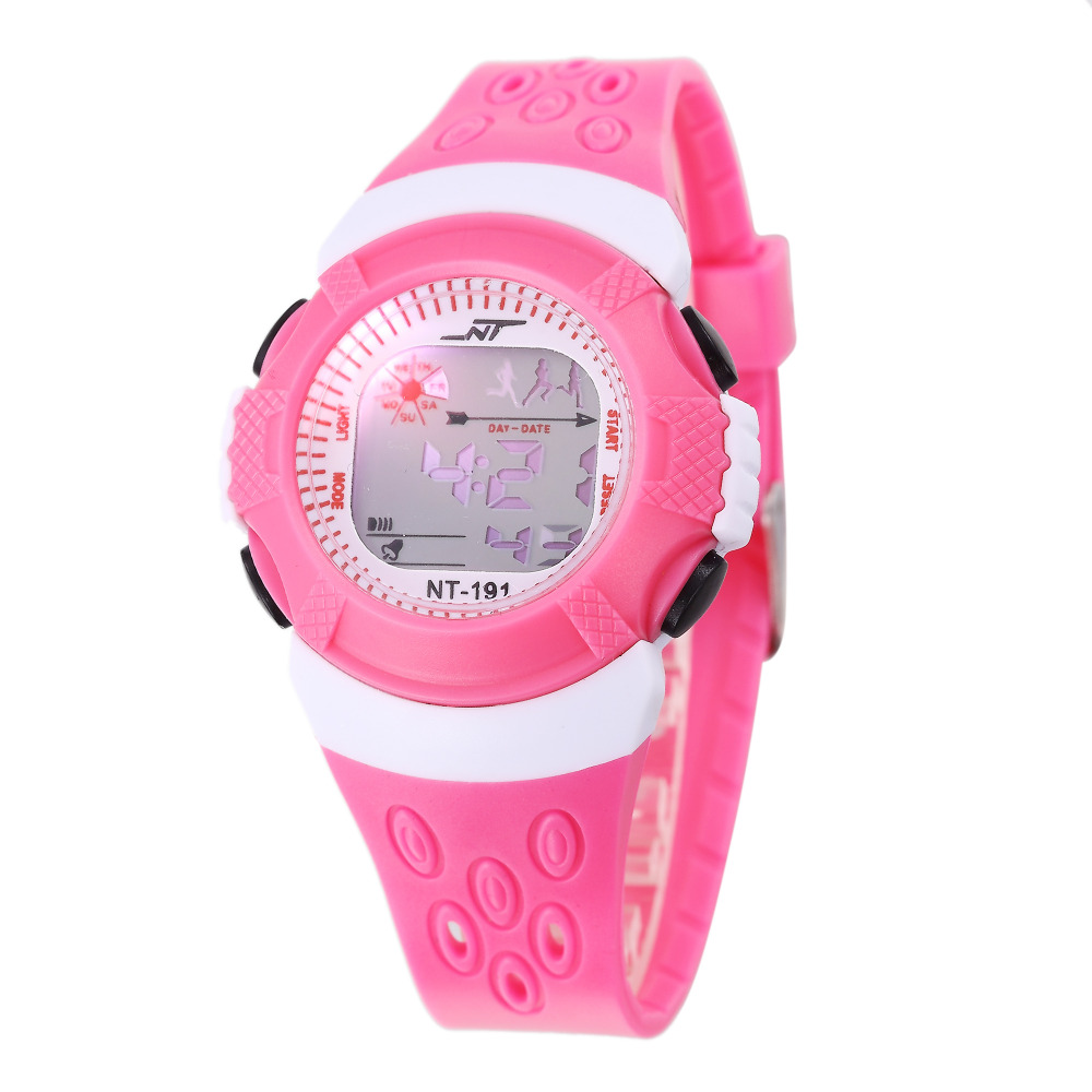 Lovely Luminous Pink Children Digital Watches Silicone Boys Girls LED Watch Cute Students Electronic Clock Gifts Montre Enfant