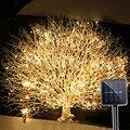 BEIAIDI открытый 2Mx10 200 светодиодный солнечный Ветка лозы светодиодный свет Сказочный свет уличный садовый забор дерево светодиодный свет