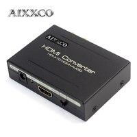AIXXCO HDMI Splitter do SPDIF Audio Extractor Stereo RCA L/R Analogowe Wyjście ConverterSplitter Adapter z Zasilacza