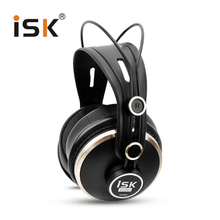 Buy online Professional HD Monitor Headphones ISK HD9999 Studio DJ Headset Dynamic 1500mW Powerful Over Ear HiFi Earphone Auriculars