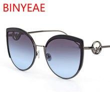 Marca Sexy Cat Eye Sunglasses Mulheres Da Alta Moda 2018 Novo Designer de  Grandes Óculos de Sol Femininos Gradiente Vidros Refle. ea3dfdc7a3
