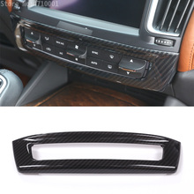 Carbon Fiber ABS Chrome For Maserati Levante Car-Styling Car Center Central Control Mode Button Frame Cover Trim Accessories carbon fiber style abs plastic car rear row back seat net bag frame trim fit for maserati ghibli for levante car accessories