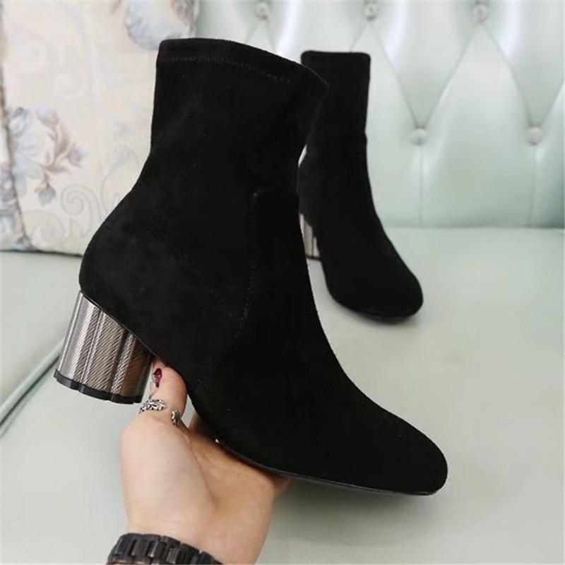 as Talón Nueva Zapatos Deslizamiento Tobillo Moda Short Botas Bota De Show Feminina Casual En Señoras Mujer Marca Las As Show Mujeres qAqawrBH
