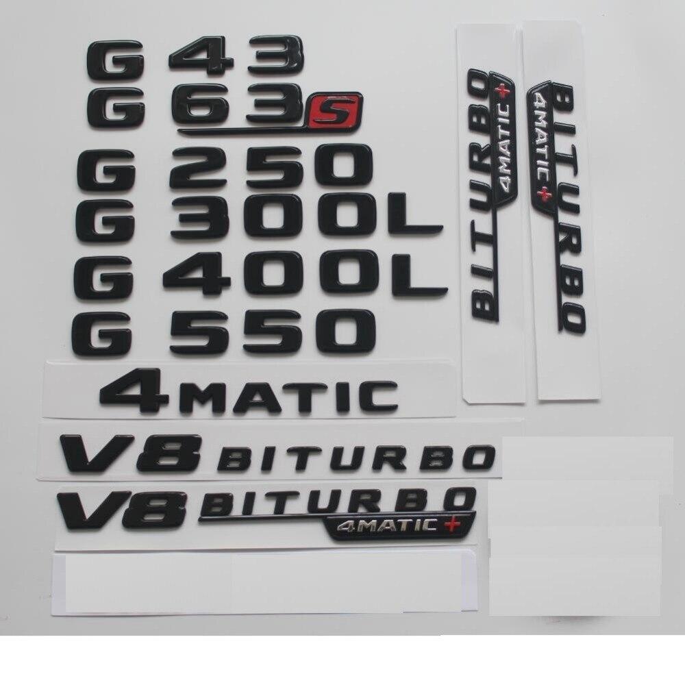 Глянцевый черный для Mercedes Benz W463 W461 G55 G63 G65 AMG G200 G300 G320 G400 G500 G350 4matic, эмблемы заднего вида