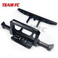 TeamFc 1:10 RC Cars Front Rear Bumper Set For TRX 4 TRX4 Crawler Black Upgrade Auto Parts F148B