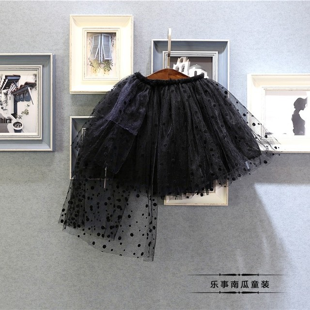 Korean children 2017 girls new spring all-match little irregular yarn skirt  free shipping
