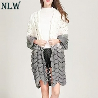 NLW Harajuku Long Cardigans Patchwork Casual Knitted Sweaters 2018 New Trendy Cardigans Knitwear Sweater