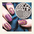 1pc Stamping Plate Polka Dots Brick Nail Template Beauty Polish Transfer DIY Manicure Tools E05