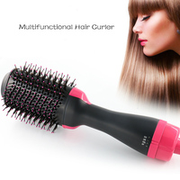 Electric Hair Dryer Comb Multifunctional Infrared Negative Ion Hot Air Comb Straight Hair Curling Comb Hairdryer