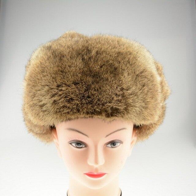 S1265 Оптовой/Розничной 2016 Настоящий Природный Мех Кролика Hat Женщины Мужчины Зима Теплая Шапка