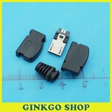 20pcs/lot 90Degree Soldering Type MICRO USB 5P Male Plug Connectors DIY Accessories diy soldering usb female connectors black 10 pcs