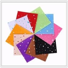 Raindrop  Felt Craft felt Polyester Fabric 100% Print 10PCS 1pack Combination Cloth Handmade Sewing Material15x15