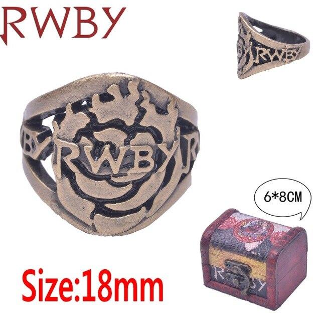 Аниме кольцо RWBY в подарочной шкатулке