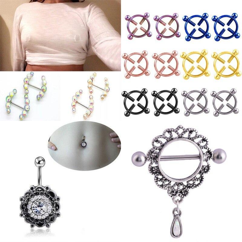 Exotic Apparel Sexy Nipple Ring Female Fashion Body Nipple Clips Clamp Bar Piercing Jewelry Non-Piercing Nipple Ring Erotic