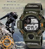 SYNOKE G Style hommes sport montres chronographe militaire numérique montres résistant aux chocs Montre Homme Erkek Saat N50
