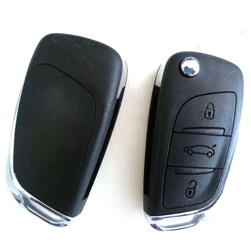 New Smart Folding Filp Remote Key Fob 3 Button 434MHz for Citroen C5 Uncut Blade new remote key fob 3 button 433mhz id83 for mazda cx 5 ske13e 01 uncut blade