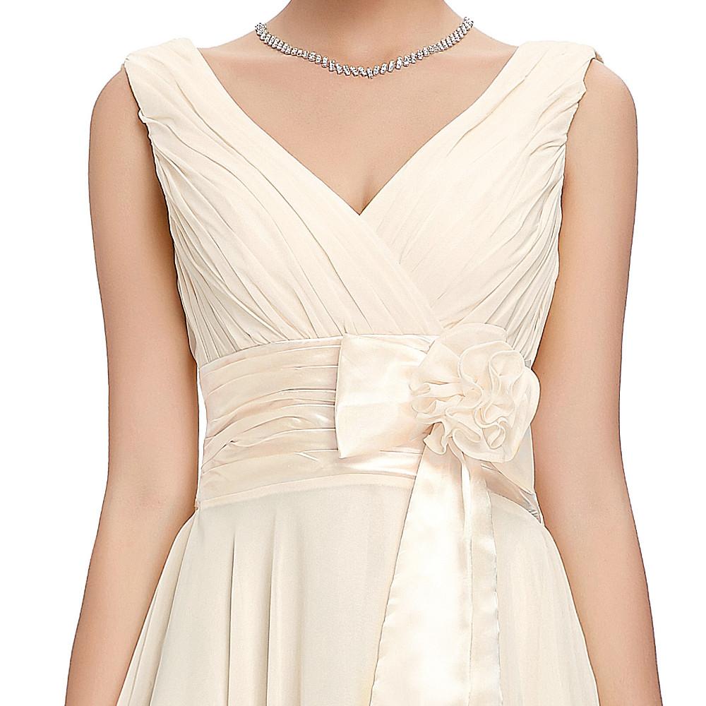 Knee Length Short Chiffon Bridesmaid Dress 5