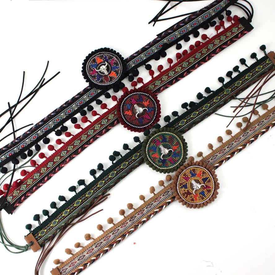 Mode Vrouwen Boho Handgemaakte Daisy & Riem Decoratie Zand Strand Strooien Hoed Riem Esthetisch Uiterlijk