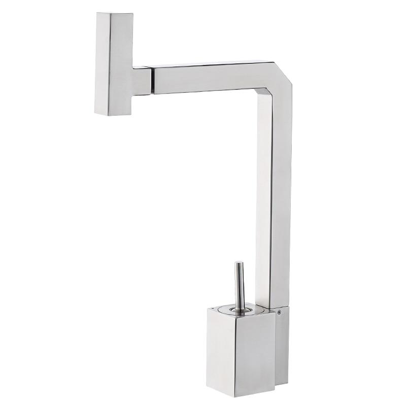 304 robinet de cuisine en acier inoxydable robinet de lavabo froid et chaud peut faire pivoter le robinet d'eau de l'évier wx5101646