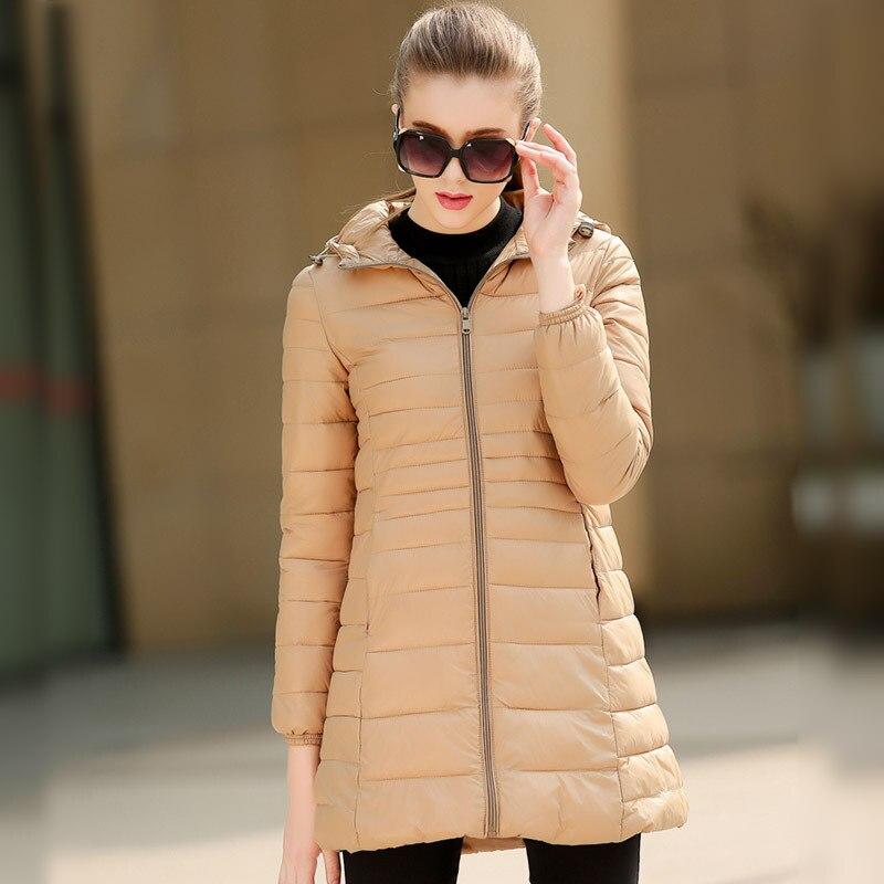 2016 New Winter Women s Slim Hooded Down Parka Winter Jacket Warm Coat Woman s Outerwear
