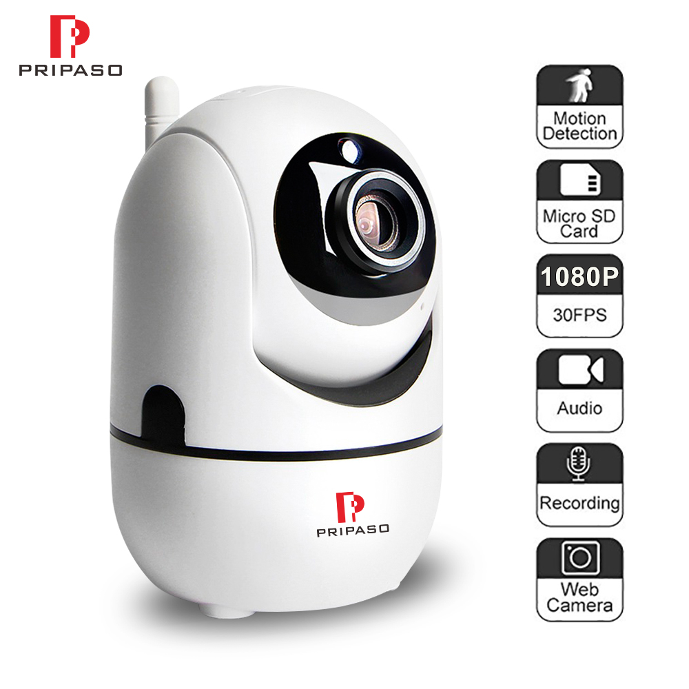 Pripaso Wireless 1080P 2.0MP IP Cloud Camera Auto Tracking Network WiFi Camera Baby Monitor CCTV Surveillance Mini Camera