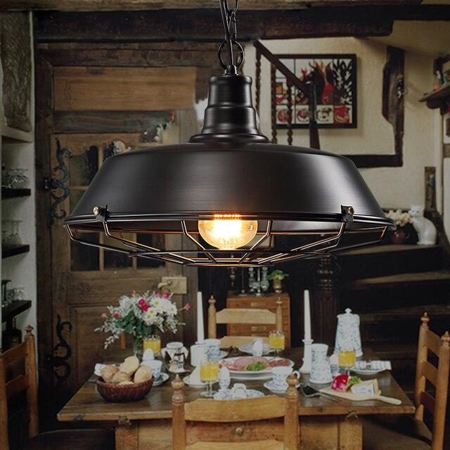Retro Loft lamp droplight study office dinning room bar aisle corridor restaurant pub cafe chandelier hanging light headlight 1