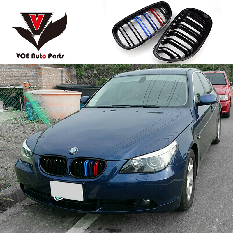 2004-2009 Kidney Shape ABS Plastic Gloss 3-Color Car-Styling E60 M5 Design Front Racing Grill Grille for BMW E60 5 Series 4 series f32 f33 f36 front bumper grill gloss black abs car styling grille for bmw f80 m3 f82 f83 m4 replacement car part