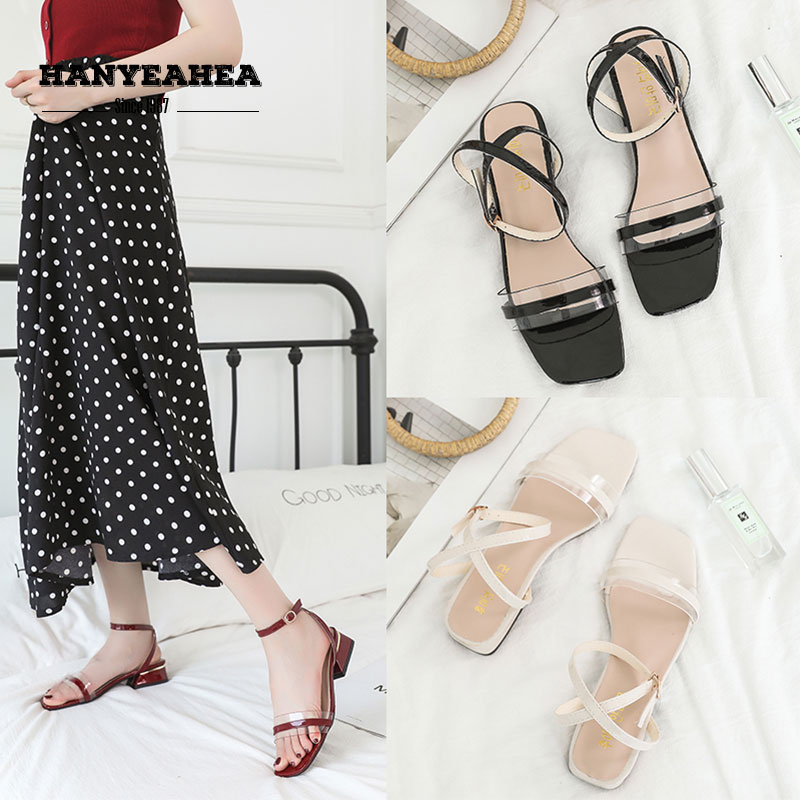 New Arrival Sandalias De Verano Para Mujer Mature Sweet High Heels Concise Fashion