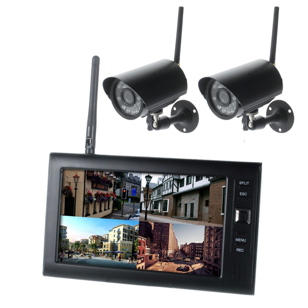 7 Inch Digital Tft 2 4g Wireless Cameras Audio Video Baby