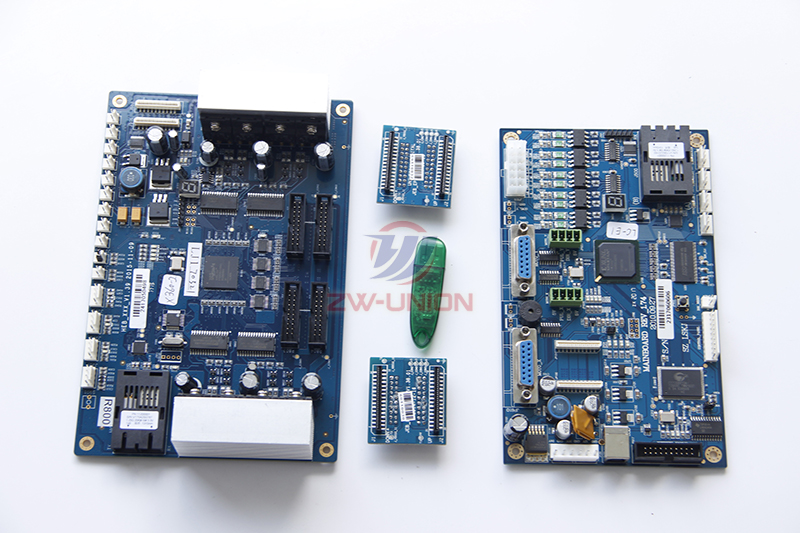 full on set!Galaxy eco solvent  Printer double printhead  Board Parts with Convert Board 2 pcs headboard mainboard dongel