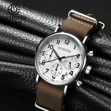 OCHSTIN Chronograph Mens Watch Men Watches Male Casual Top Brand Luxury Quartz Wristwatch Clock Military Clocks Stopwatch 081A