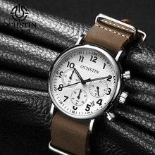 OCHSTIN Chronograph erkek saati Erkekler Saatler Erkek rahat üst Marka Lüks Kuvars Saatler Saat Askeri Saatler Kronometre 081A