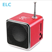 Mini Portable Radio Speaker With LCD LED Display Support Micro SD/TF Music Player Digital FM Compatible With Laptop/Phones
