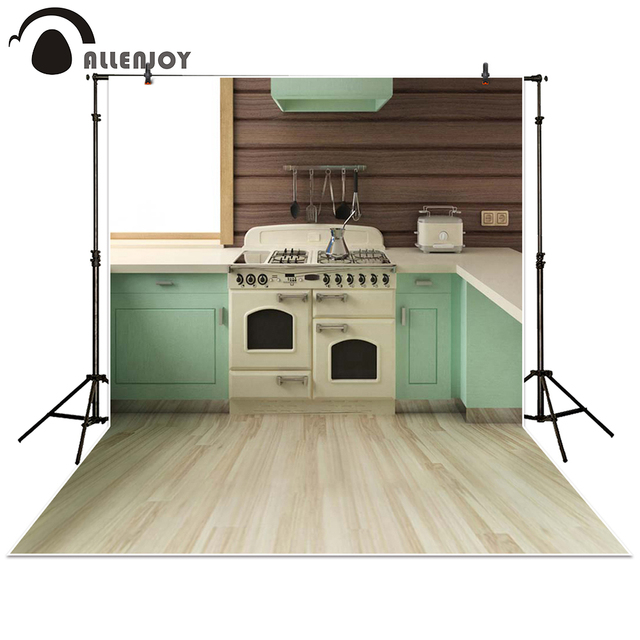 Allenjoy Photography Backdrop Cooking Room Kitchen Wooden Floor Simple Baby Shower Children Background Photo Studio Photocall